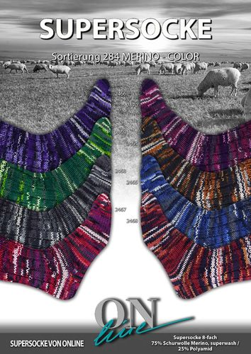 ON line 8-fach Merino Color 284